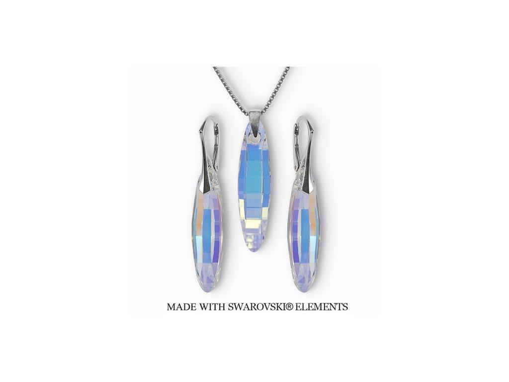 Set s kryštálmi ELLIPSE Swarovski Elements AB 32 mm ( bez retiazky )