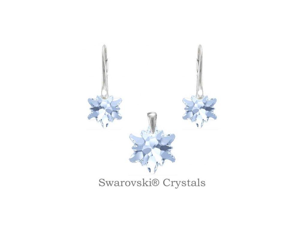 Strieborný set EDELWEISS Swarovski Elements Blue Shade