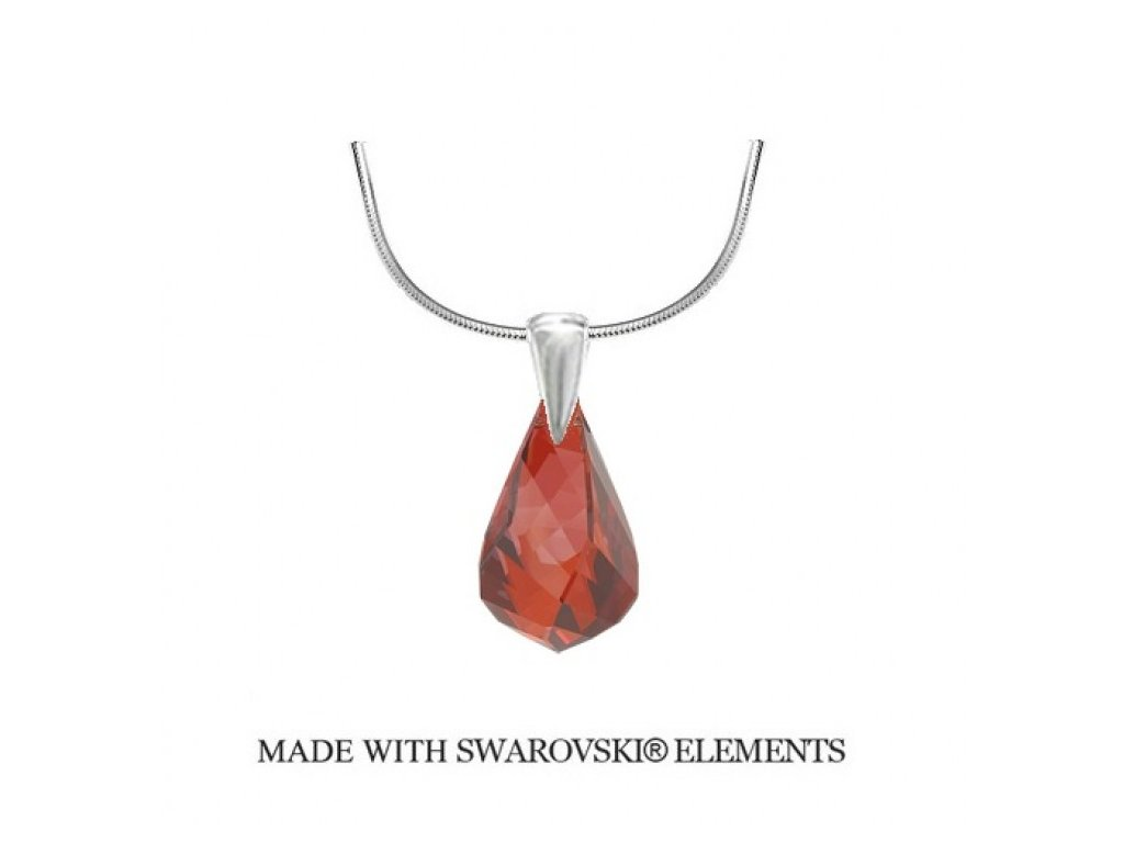 Náhrdelník Swarovski Elements Helix Red Magma 18 mm