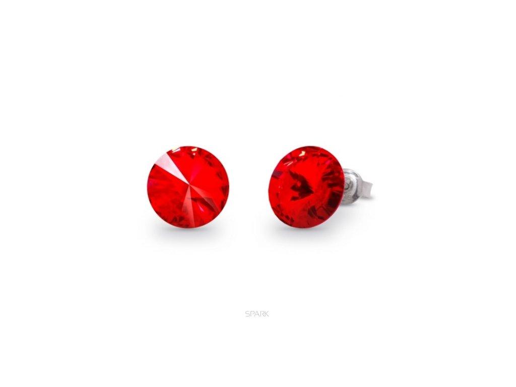 swarovski-cervene-puzetove-nausnice-strieborne
