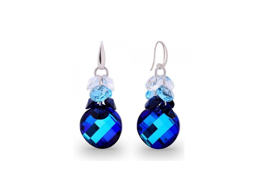 Náušnice Luna Dives s kryštálmi Swarovski Elements Bermuda Blue