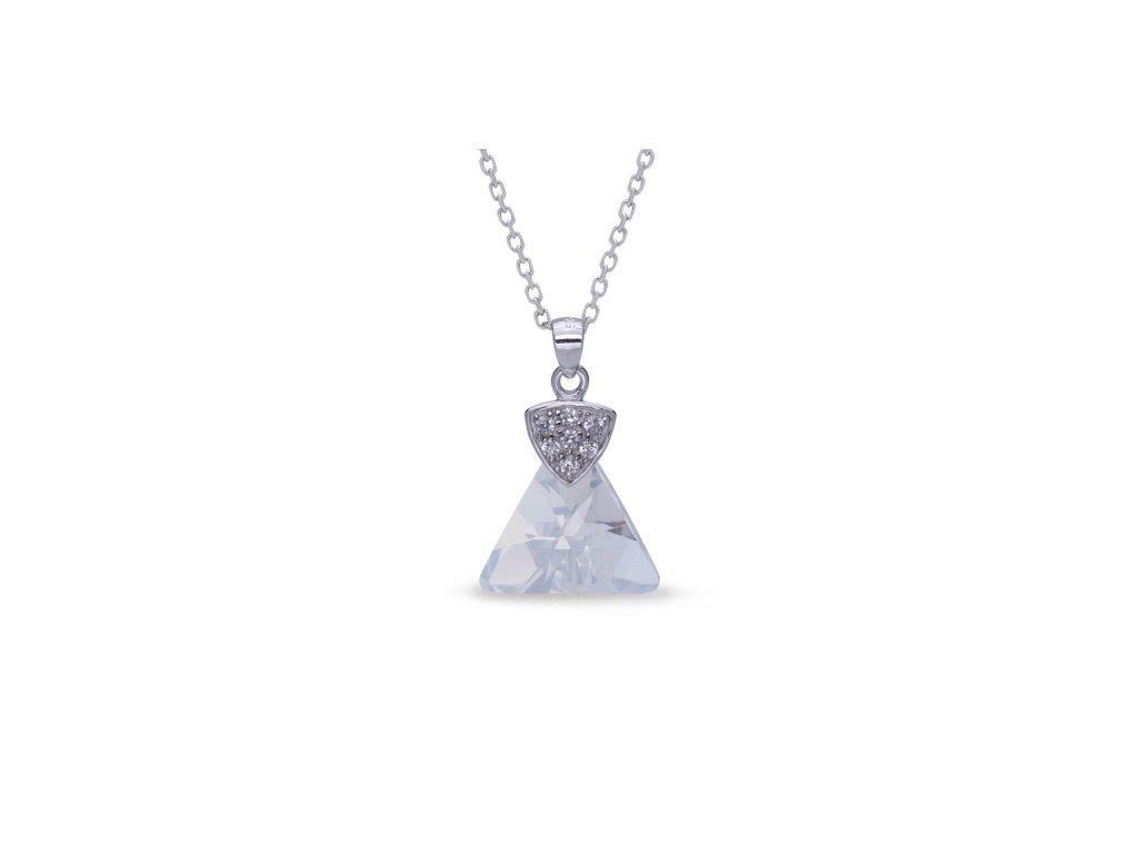 Náhrdelník Triangolo Swarovski Elements Blue Shade