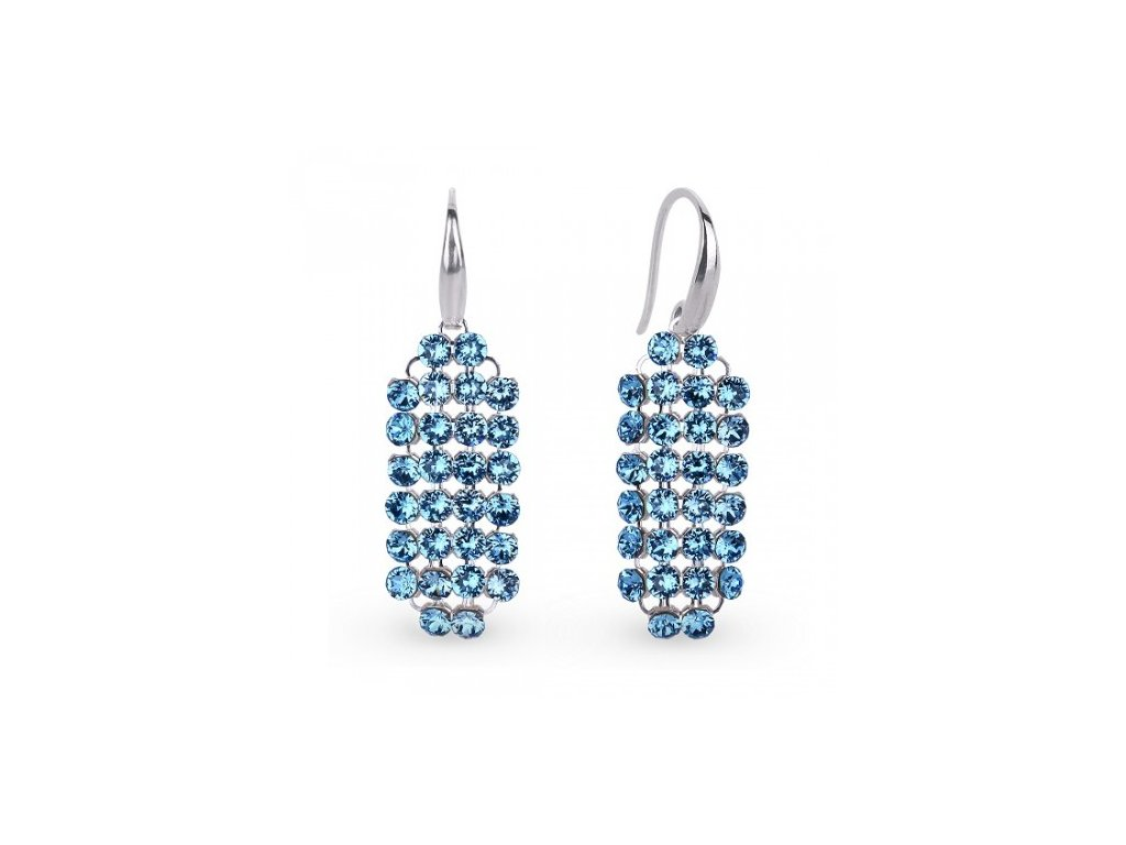 Náušnice Stylish Swarovski Elements Aquamarine KWMESH2AQ