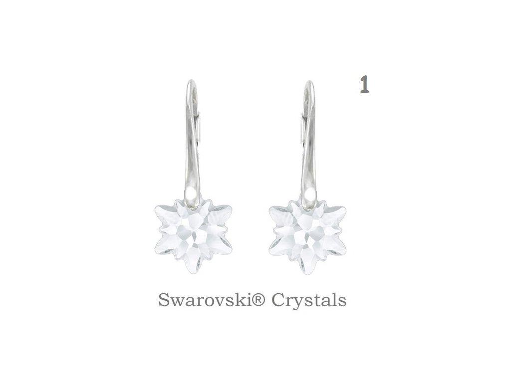Náušnice s kryštálmi Swarovski Elements EDELWEISS White Opal