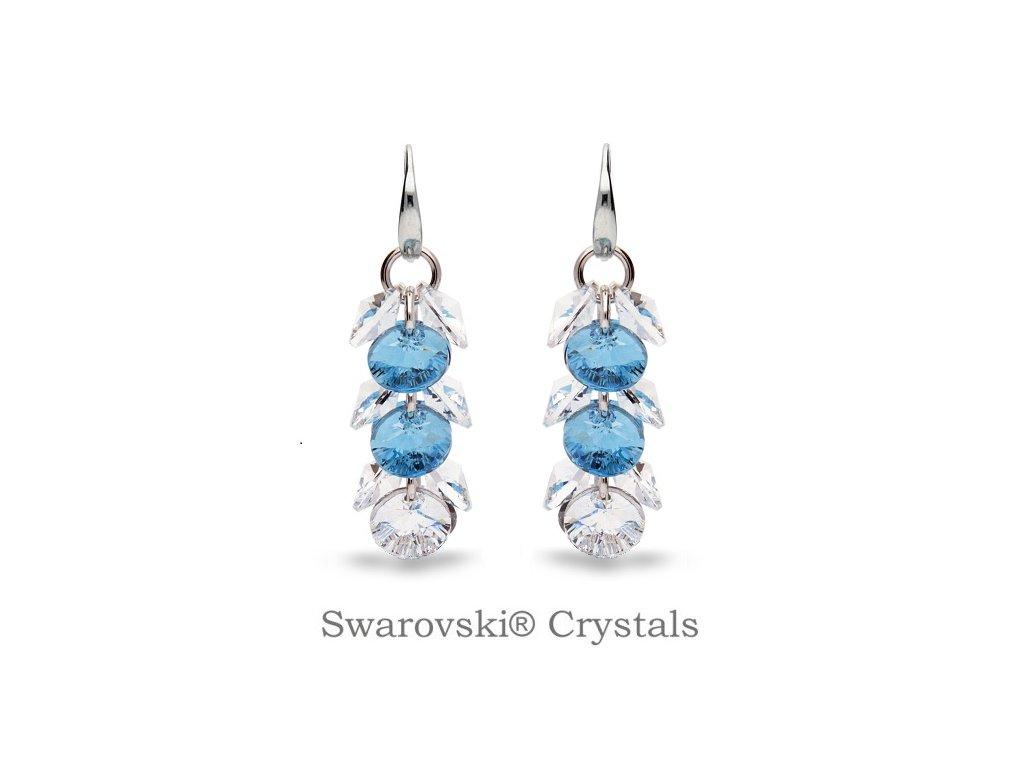 Náušnice Dives s kryštálmi Swarovski® Crystal Aquamarine