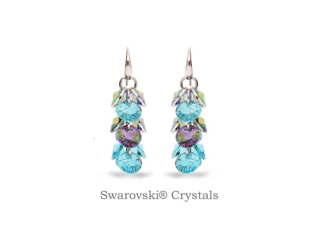 Náušnice Dives s kryštálmi Swarovski® Turquoise