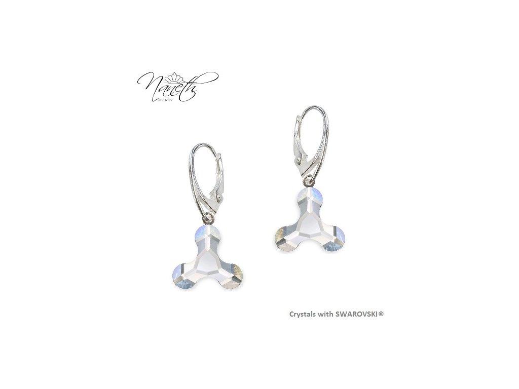Náušnice NANETH s bielymi kryštálmi MOLECULE Swarovski®Crystals Crystal