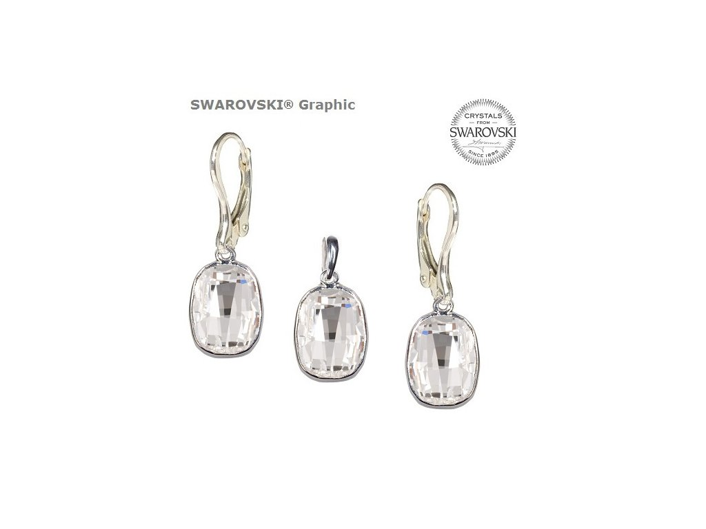 Set s kryštálmi Swarovski®Crystals GRAPHIC Crystal