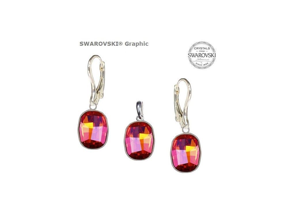 Set s kryštálmi Swarovski®Crystals GRAPHIC Astral Pink