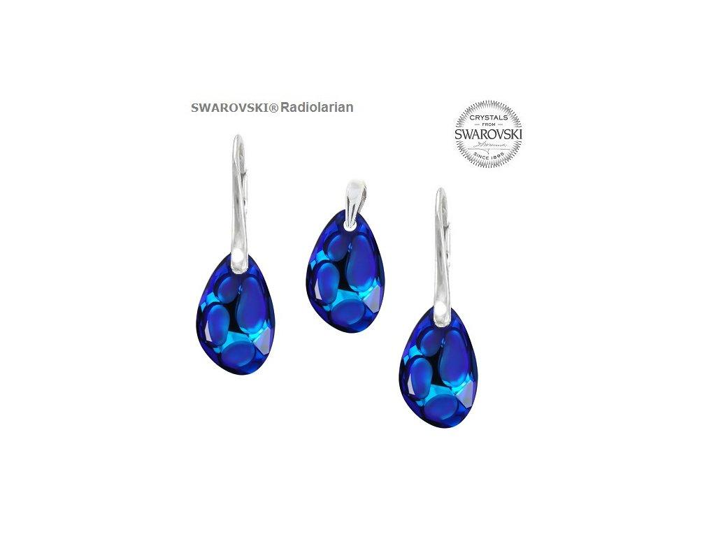 Set s kryštálmi RADIOLARIAN Swarovski®Crystals Bermuda Blue