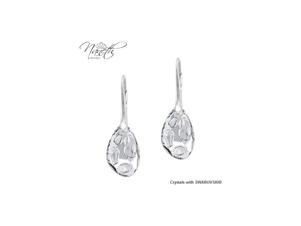 Náušnice Naneth s čírymi kryštálmi RADIOLARIAN Swarovski Crystal