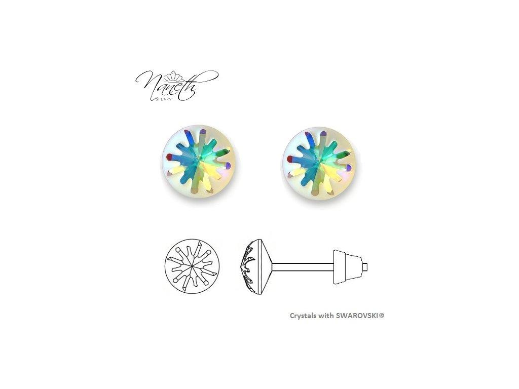 Náušnice Naneth Sea Urchin s kryštálmi Swarovski® Crystals AB