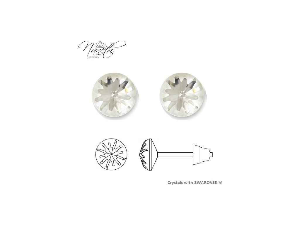 Náušnice Naneth Sea Urchin s kryštálmi Swarovski® Crystals Crystal