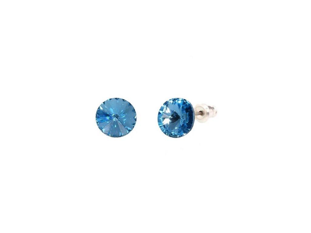 swarovski-okruhle-modre-puzetove-nausnice-aqaumarine