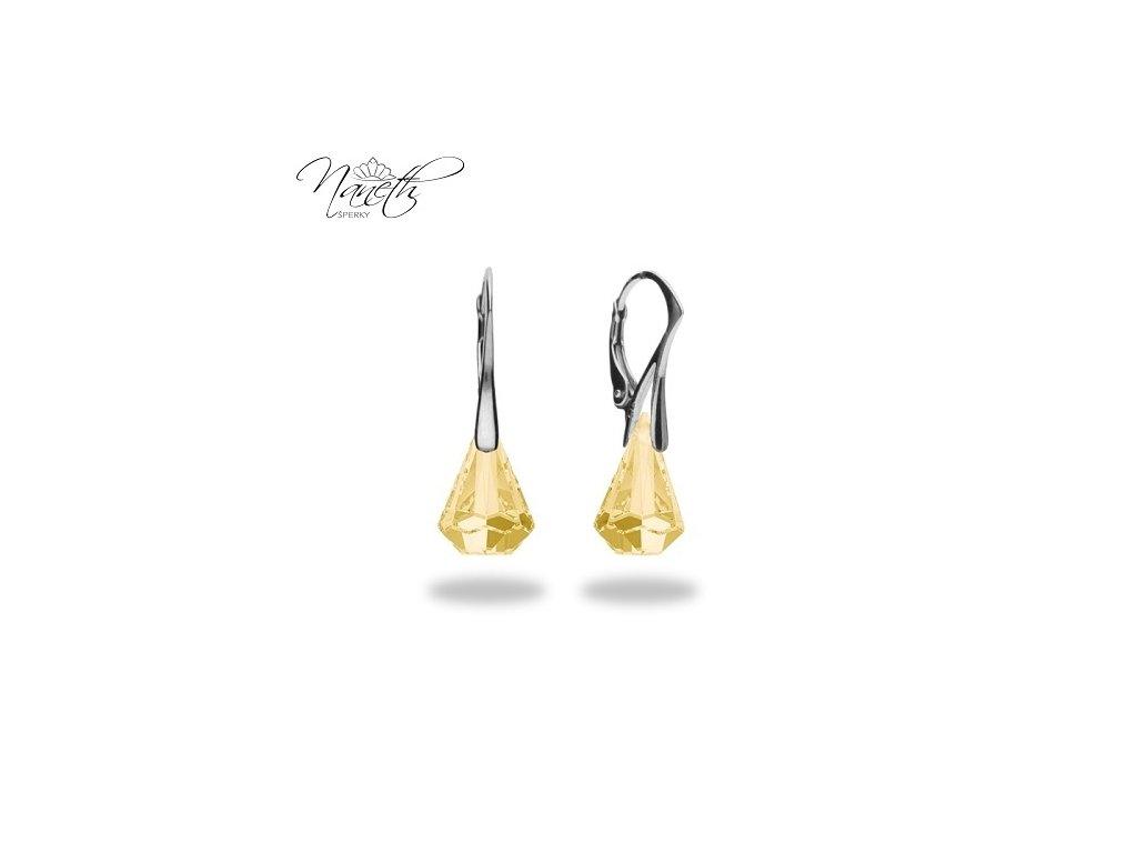 Náušnice Naneth s kryštálmi Swarovski®Crystals Xirius Golden Shadow 14 mm