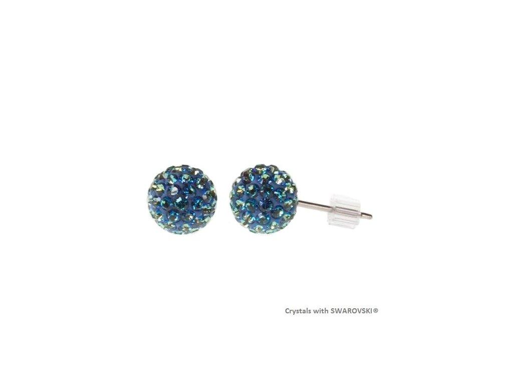 SWAROVSKI-nausnice-modre-gulicky-napichovacky-puzety-discoball-bermuda-blue