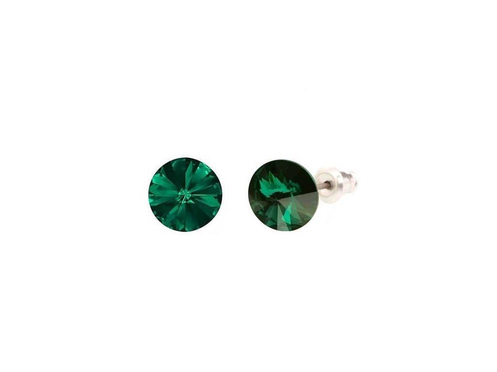 swarovski-nausnice-okruhle-zelene-puzetove-emerald
