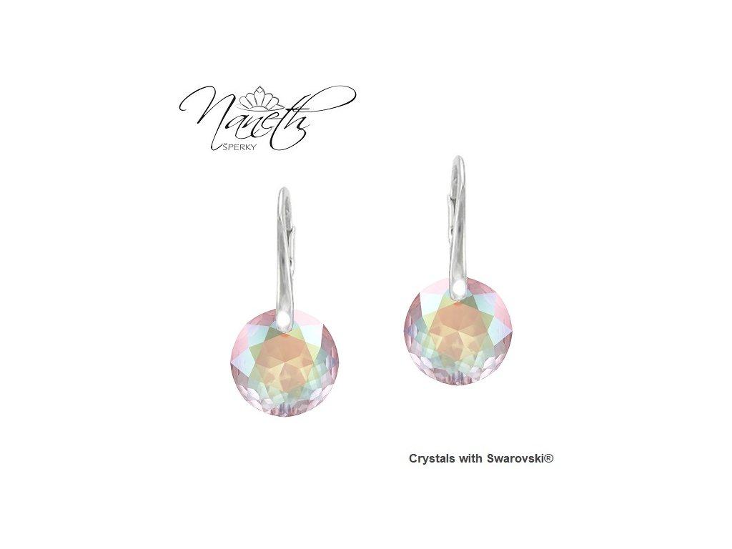 Náušnice Naneth Swarovski® Classic Cut dúhové AB