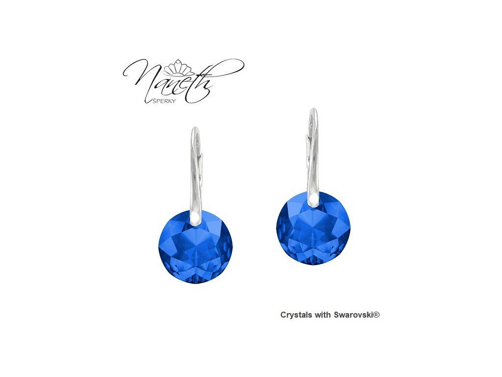 Náušnice Naneth Swarovski® Classic Cut modré Sapphire