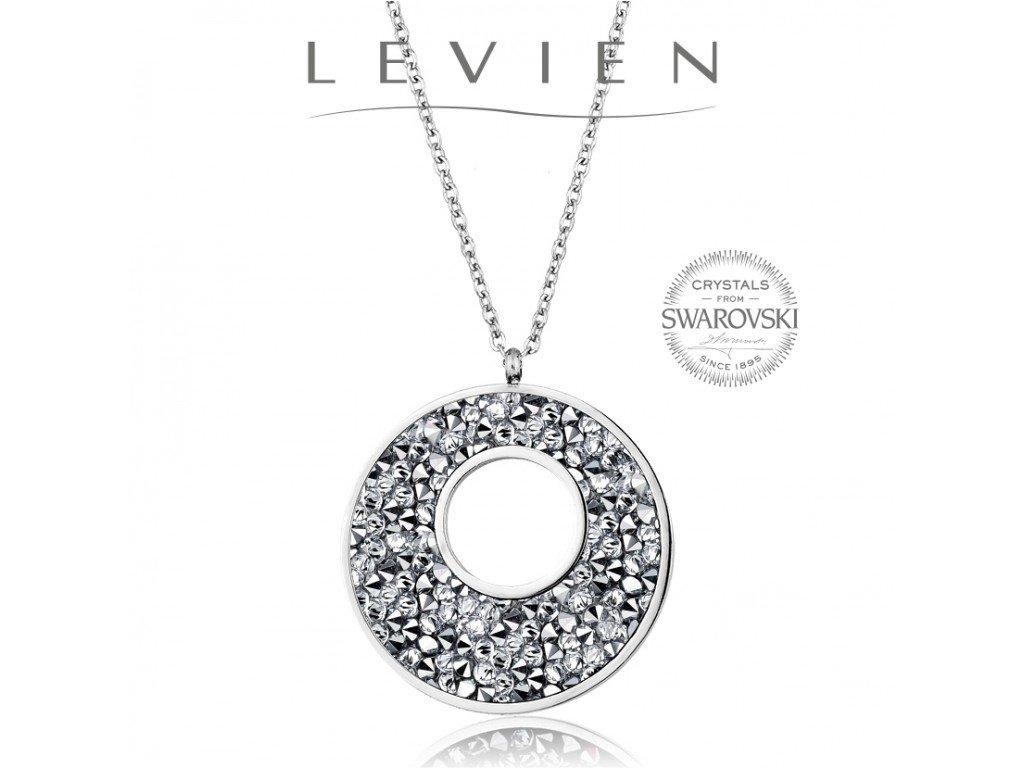 Oceľový náhrdelník VICTORY Rocks s kryštálmi Swarovski Crystal CAL