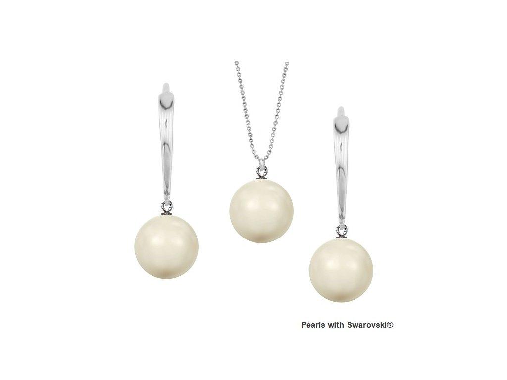 SET5818IW10 perlový set biely Ivory White Swarovski