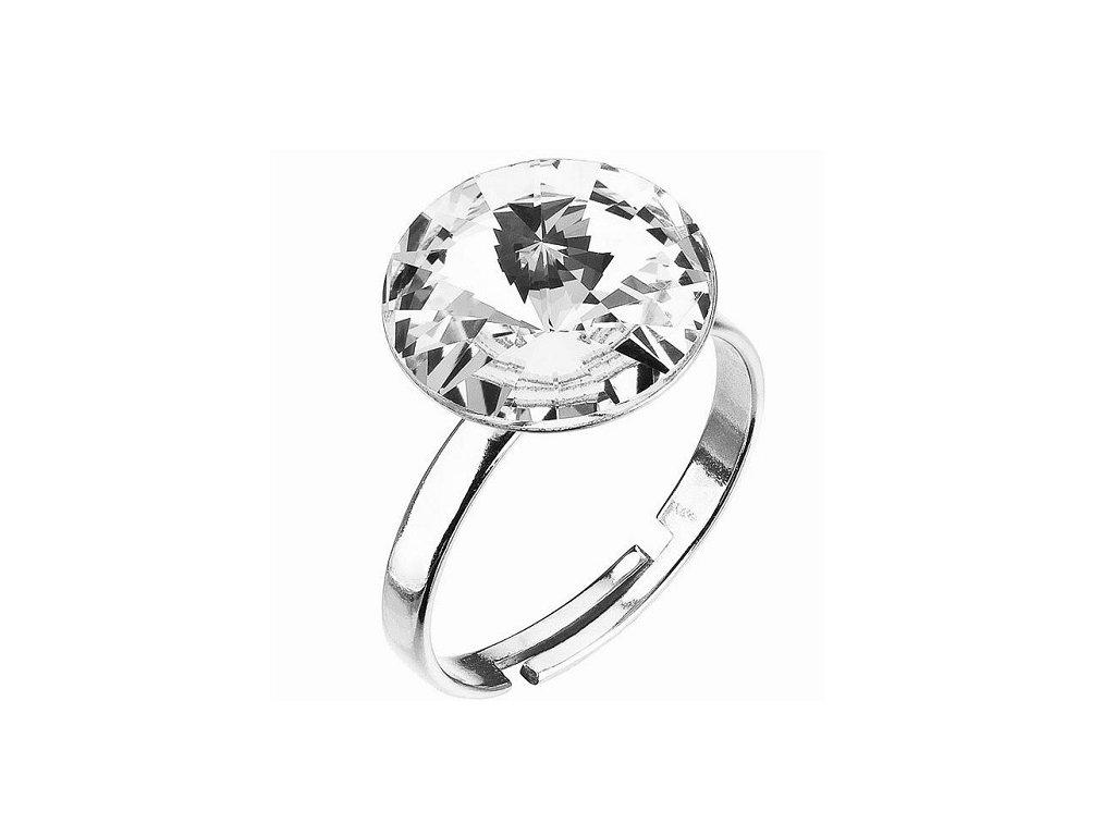 SWAROVSKI prsten okruhly biely rivoli