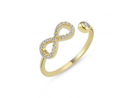 strieborny prsten damsky nastavitelny INFINITY pozlateny PR44268ZZ
