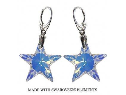 Náušnice AB hviezdy Swarovski Elements