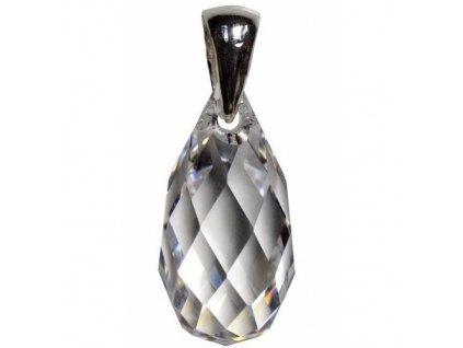 Prívesok Swarovski® BRIOLETTE Crystal 21 mm