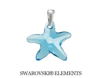 Prívesok morská hviezda Swarovski® Aquamarine 20 mm