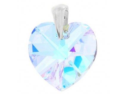 Prívesok srdce Naneth s dúhovým kryštálom Swarovski Heart AB 28 mm