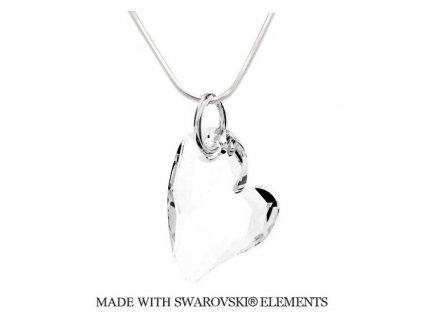 Náhrdelník srdiečko Swarovski Elements Devoted2you Crystal 17 mm