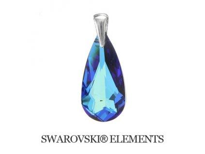 modrý prívesok Swarovski slza Bermuda Blue