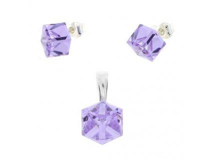fialový set kocky Swarovski® violet