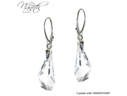 Visiace náušnice Naneth s kryštálmi Swarovski Polygon Crystal 21 mm