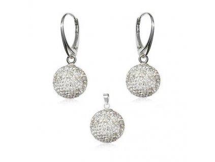 set-swarovski-discoball-biely-crystal
