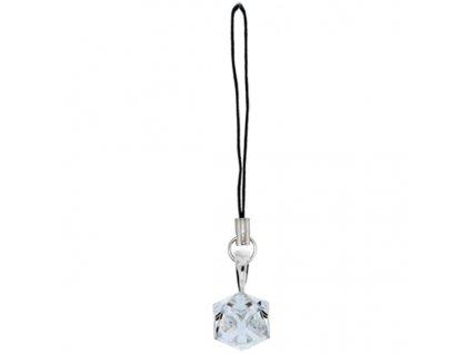 Prívesok na mobil kocka Swarovski® Crystal 6 mm