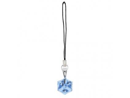 modrá kocka prívesok Swarovski® na mobil, kabelku, peňaženku