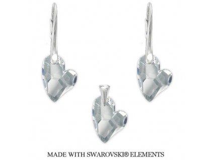 Set Devoted2you s kryštálmi Swarovski Elements Crystal