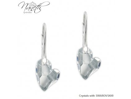 Náušnice Naneth Devoted2you s kryštálmi Swarovski Crystal