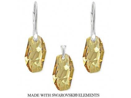 Set METEOR Swarovski Elements Golden Shadow