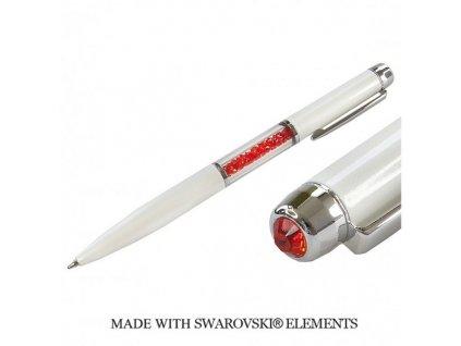 swarovski-pero-biele-cervene-krystaly