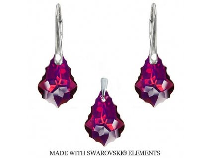 Set s kryštálmi Swarovski Elements Baroque Ruby 22 mm