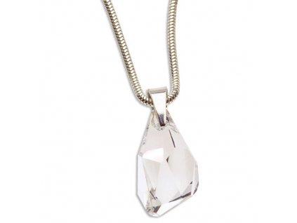 Náhrdelník s kryštálom Swarovski Elements Polygon Crystal 21 mm