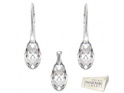 Set BRIOLETTE s kryštálmi Swarovski Elements Crystal 17 mm