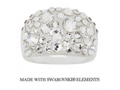 SWAROVSKI-prsten-biely-damsky-crystal-plastovy