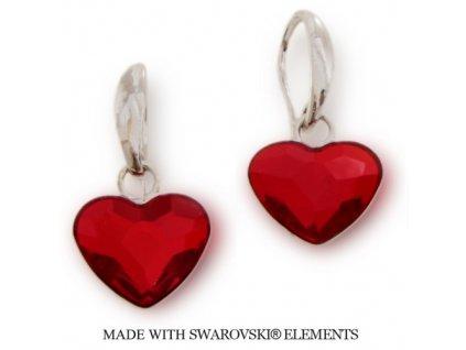 SWAROVSKI-nausnice-srdce-cervene-NAH2808LS14-strieborne