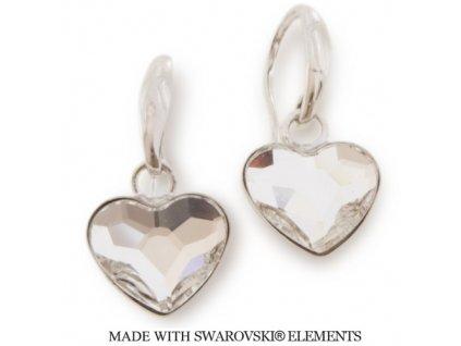 SWAROVSKI-nausnice-srdce-biele-NAH2808C14-strieborne