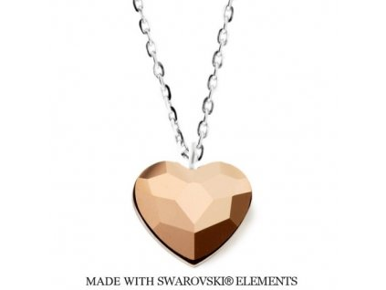 SWAROVSKI-nahrdelnik-zlate-srdce-strieborny-heart