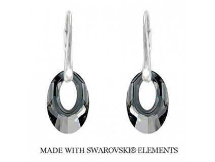 Náušnice Helios Swarovski Elements Silver Night